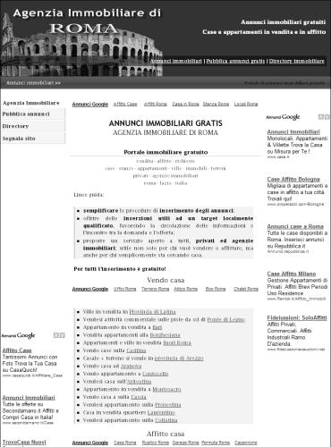 Annunci immobiliari roma annunci gratis per chi vende for Annunci immobiliari roma