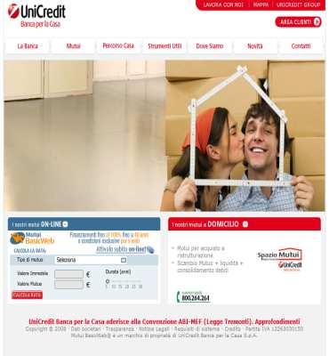 Calcolo rata mutuo calcolo mutuo mutui servizi finanziari - Calcolo ristrutturazione casa ...