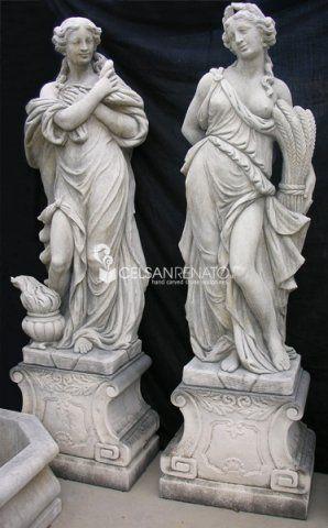 Lavorazione della pietra sculture e statue arredo - Statue giardino ...